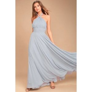 Stunning Maxi Grey Gown NWT!